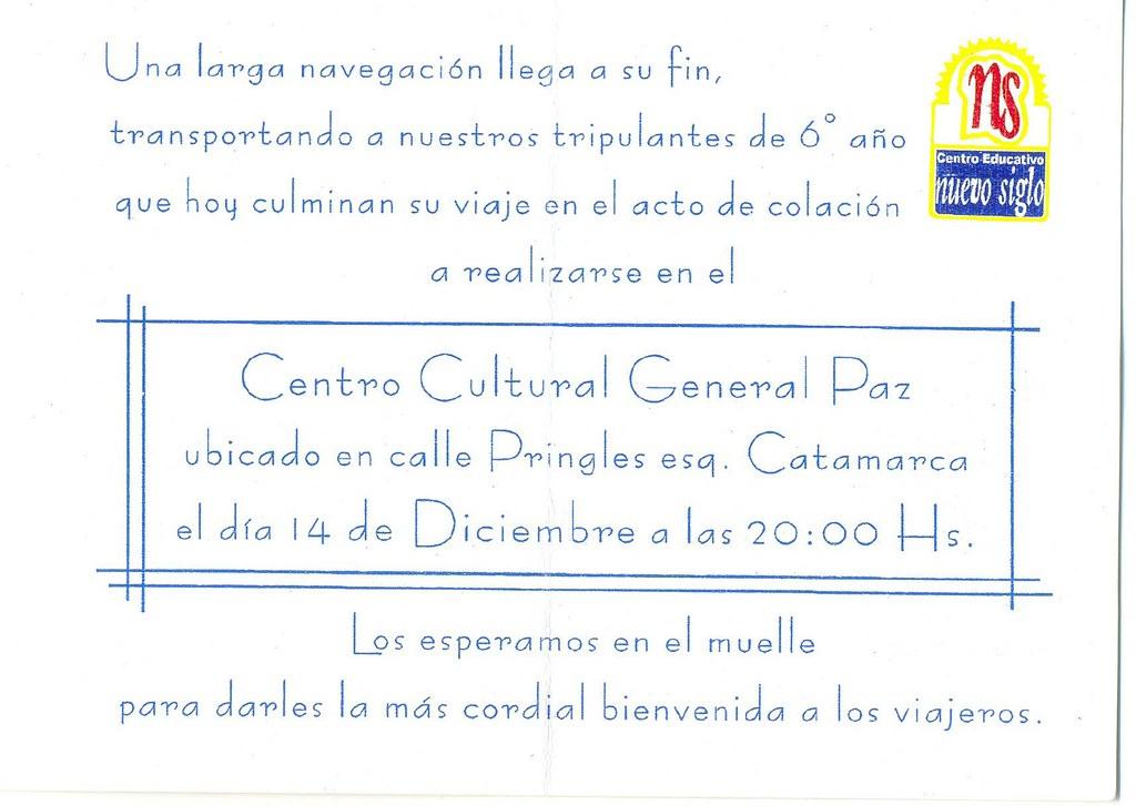 Tarjeta Invitación Egresado Pablo Reynaldo Esnaola Flickr