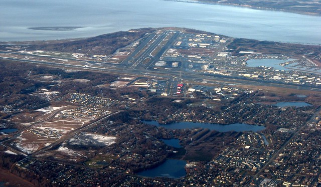 Anchorage International Airport and Cook Inlet