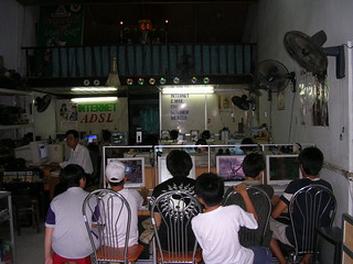 Gaming in Internet Cafe