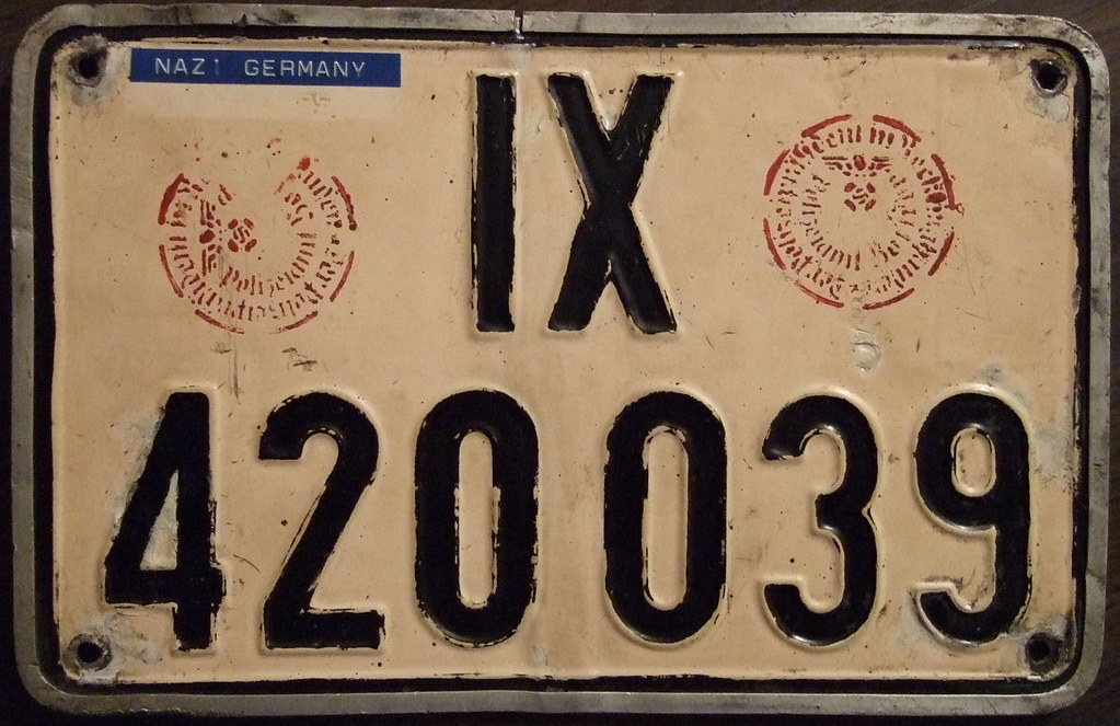 GERMANY, World War II license plate | Nazi Germany plate wit… | Flickr