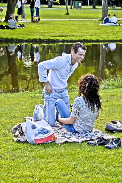 Vondelpark's happiness.  Amsterdam at Summer 2007. no.174