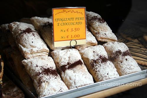 Sfogliate Pere e Cioccolato - Pear and Chocolate Pastries in Bergamo Alta, Italy | by MsAdventuresinItaly