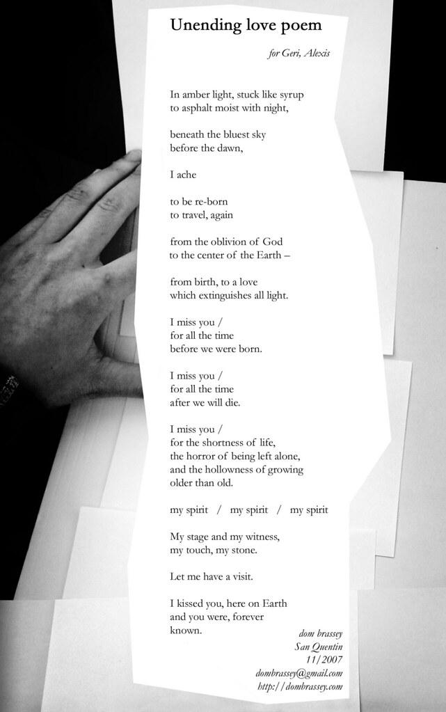unending love poem   poem on notecards (edited)   dom