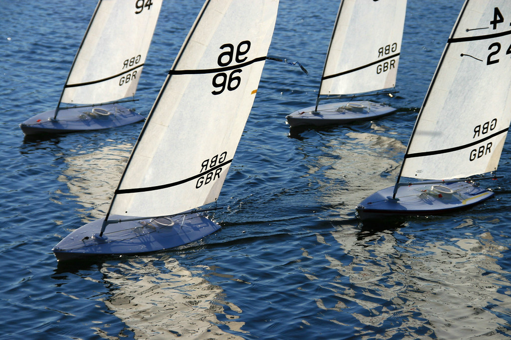 RC Laser Class Sailboats - Crossing the Start Line - IMG_6
