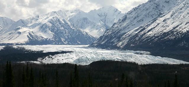 View of the Matanuska Glacier from the Glenn Highway, near Anchorage, Alaska