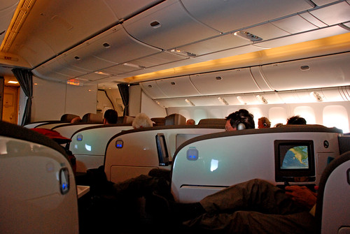 Air New Zealand Boeing 777 Business Class cabin, Feb. 2008   by PhillipC