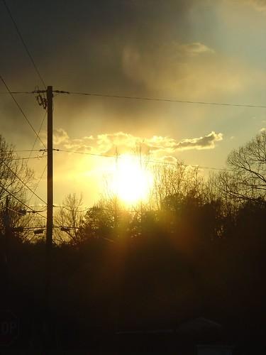sunset home dusk