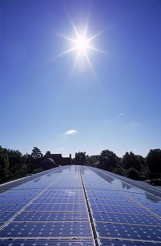 Solar Panels | A huge array of photovoltaic modules (solar p