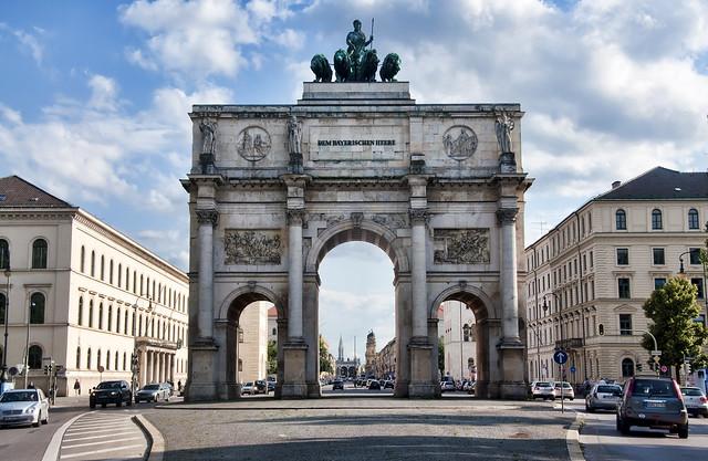 Siegestor in Munich at Day