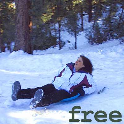 Snow Sledding Cindy