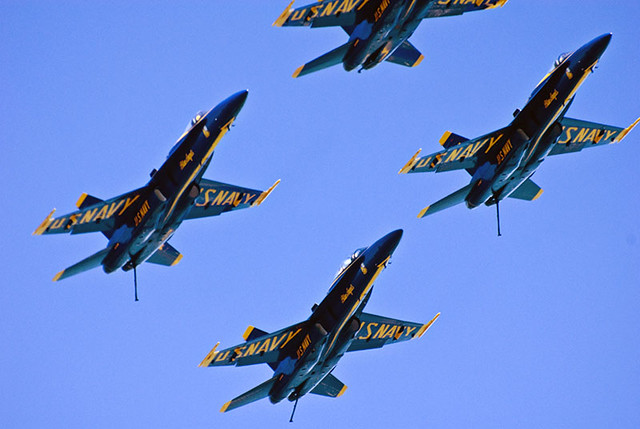 US Navy Blue Angels Today at the Air and Water Show