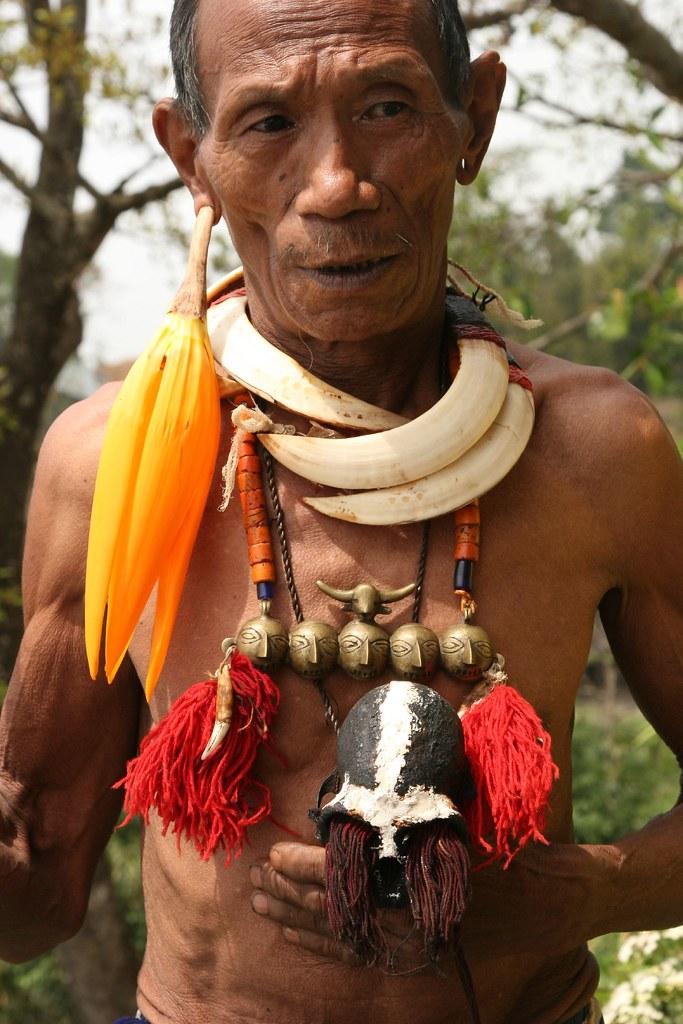 india - nagaland | Konyak Naga people at Wakching village  | Retlaw