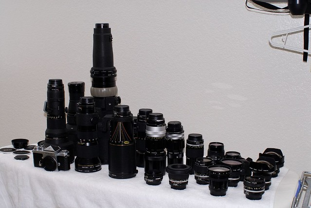 Great sharp lenses that are too good for a D2/D200 - D3 joined 2008, D800 2012..