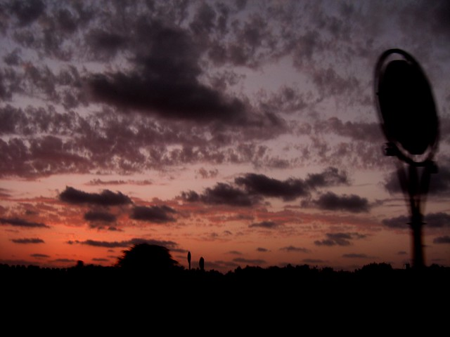 Sunset in Urban Landscape