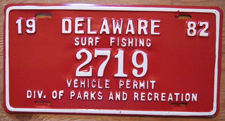 DELAWARE 1982 SURF FISHING PERMIT