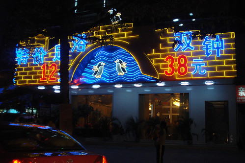 neon penguins | by enso-on