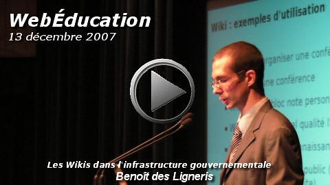 WebEducation: Vidéo de Benoit des Ligneris sur les Wiki   by VideoPresse