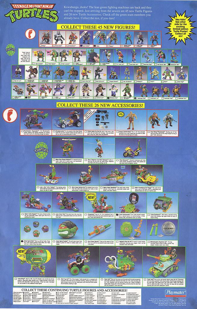 TEENAGE MUTANT NINJA TURTLES :: Limited Edition Turtle Poster / Toy Checklist # 6 ii (( 1991 )) by tOkKa