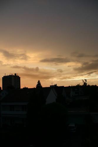 sunset skyscraper sonnenuntergang suburbia vorstadt hochhaus straubing grossstadt