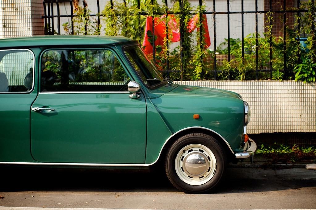 Green Austin Mini Voiture Verte I Love The Old Mini Victor