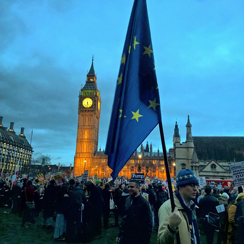 EU Flag at the Stop Trump Rally | by garryknight