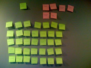 Website brainstorming with post-it notes | by Brian Fitzgerald