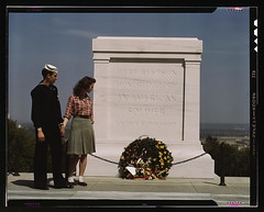Sailor and girl at the Tomb of the Unknown Soldier, Washington, D.C.  (LOC) | by The Library of Congress