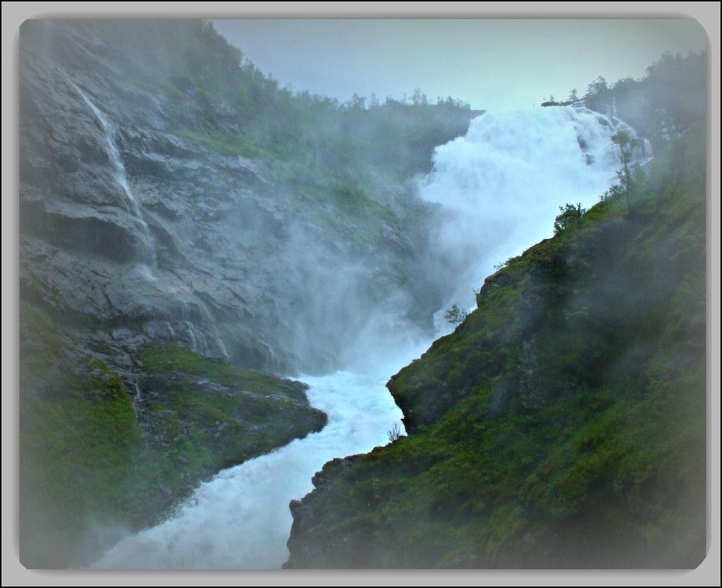 """NORWAY Flåm: Waterfall """"Kjofossen""""   18.953.17 by Juergen Kurlvink"""