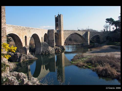 Romanesque bridge in Besalú