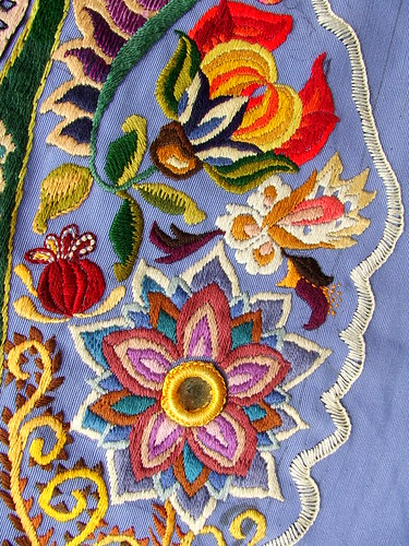 Detail of hand embroidery | by Smallest Forest