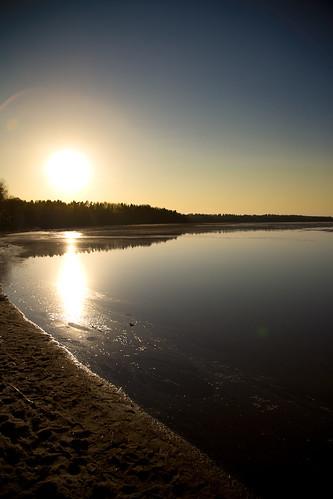 sunset sky sun lake canon reflections 5d lappeenranta saimaa canonef24105mmf4lisusm