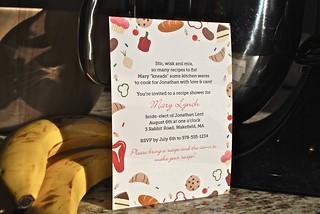 Sweet & Savory Recipe Shower Invite | by Sarah Pellegrini