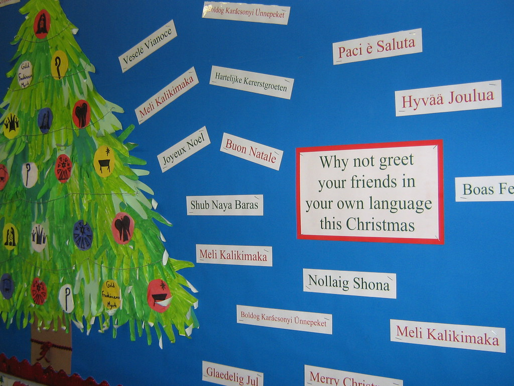 Christmas Tree Display Board.Eal Christmas Display Using My Tree Made Another Year I T