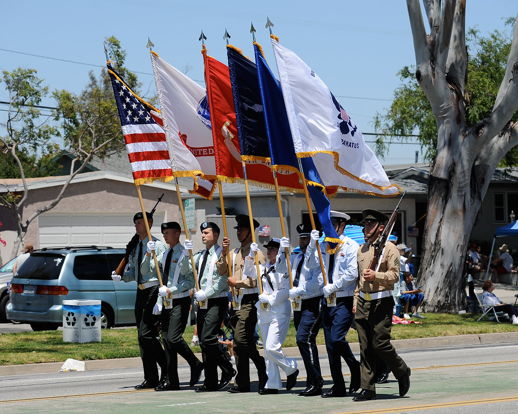 Joint Services Color Guard   Flags for the U S A , Army, Mar…   Flickr