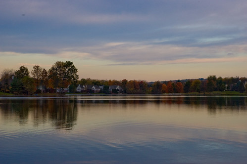 county pink autumn ohio sky reflection fall water leaves sunrise nikon bath purple d70 calm summit copley 1870mm akron dx