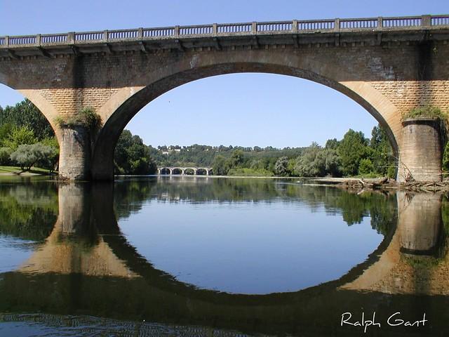 Road bridge over the Dordogne, France 2005