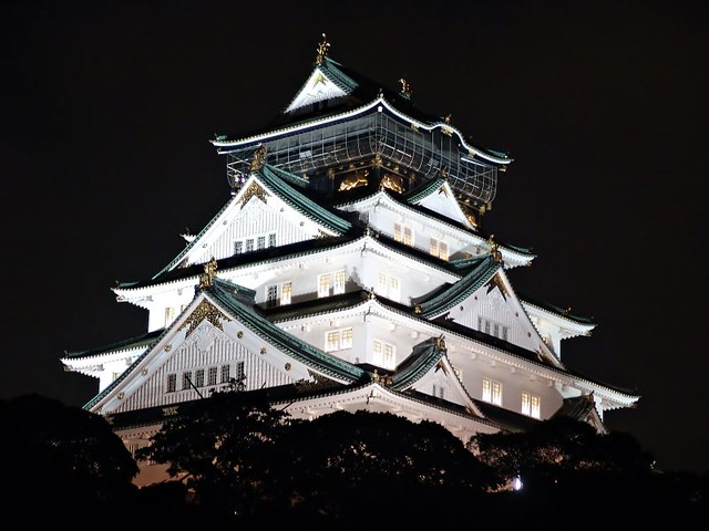 大阪 Osaka Castle by night