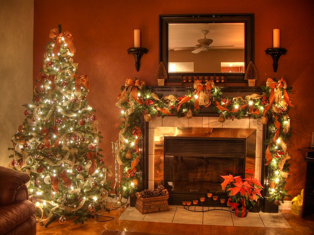 Christmas Fire Place Images.Christmas Fireplace Hdr This Is My First Hdr Picture I