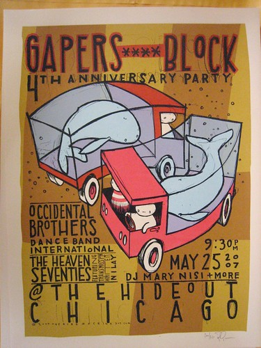 Gapers Block Anniversary Party poster | by gapersblock