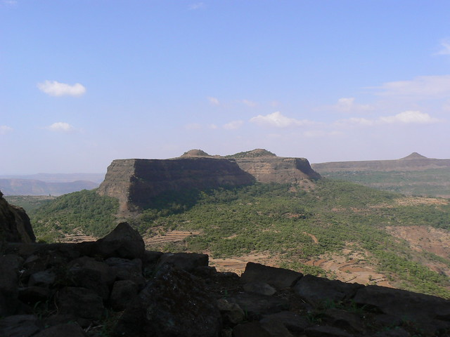 Visapur viewed from Lohagad