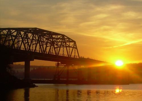 bridge sunrise washington olympic kitsap hoodcanal sr104 wsdothcb