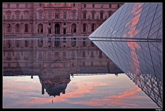 Louvre's reflections