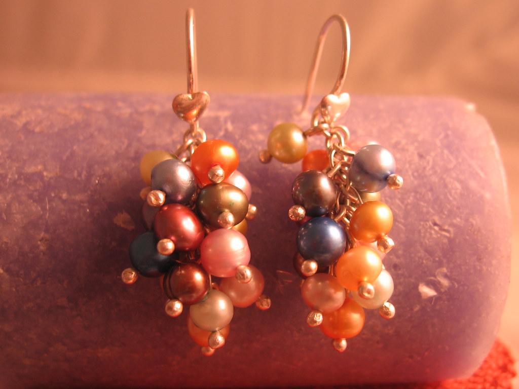 mejor servicio c0e5a a9928 Aretes racimo perlas del rio de colores | Lillysala@hotmail ...