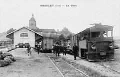 La gare d'Orgelet et son tacot