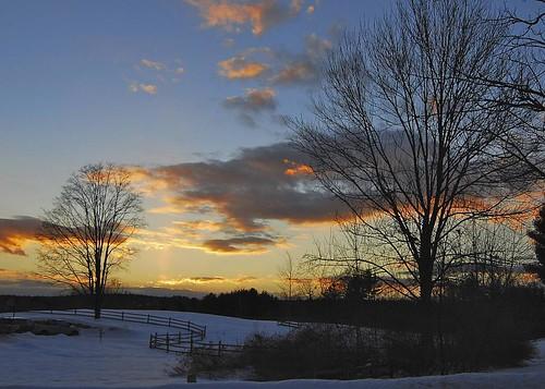 christmas sunset holiday snow d80