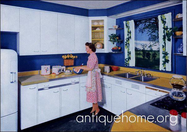 Suburban Blue Kitchen Design The Blue Color Scheme In Th Flickr