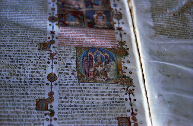 Manuscript in Vatican library
