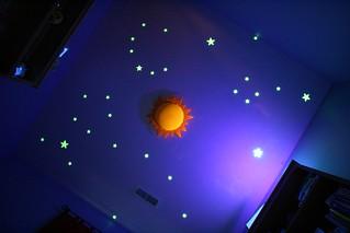 Glow in the dark Stars on Ceiling - with black light | by kierkier
