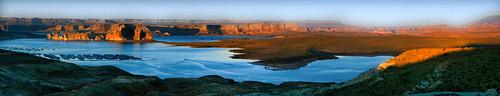 utah lake powell reservoir full moon