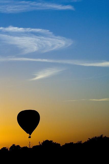 Hot Air Balloon at sunset 2